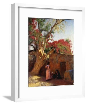 An Arab Family Outside a Village, 1917-Ludwig Deutsch-Framed Giclee Print