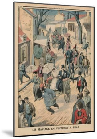 A Wedding on Handcarts, Back Cover Illustration from 'Le Petit Journal', Supplement Illustre, 5th…-French School-Mounted Giclee Print