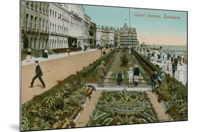 Carpet Gardens, Eastbourne, England. Postcard Sent in 1913-French Photographer-Mounted Giclee Print