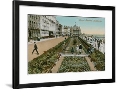 Carpet Gardens, Eastbourne, England. Postcard Sent in 1913-French Photographer-Framed Giclee Print