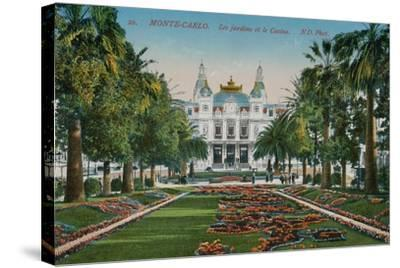 Monte-Carlo. The Gardens and the Casino. Postcard Sent in 1913-French Photographer-Stretched Canvas Print