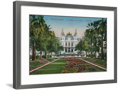 Monte-Carlo. The Gardens and the Casino. Postcard Sent in 1913-French Photographer-Framed Giclee Print