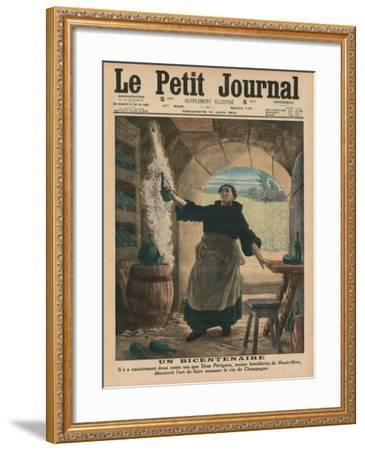 A Bicentenary, Two Hundred Years Ago Precisely, Dom Perignon, a Benedictine Monk of Hautvillers,…-French School-Framed Giclee Print