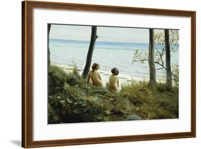 On the Beach, 1907-Harald Slott-Moller-Framed Giclee Print