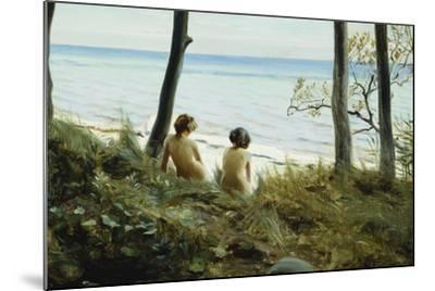 On the Beach, 1907-Harald Slott-Moller-Mounted Giclee Print