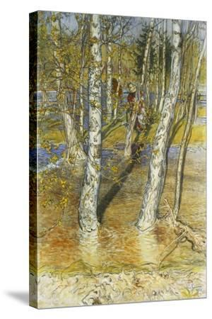 Springflood, 1902-Carl Larsson-Stretched Canvas Print