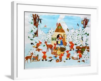 Snow White and the Seven Dwarfs-Christian Kaempf-Framed Giclee Print