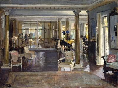 The Drawing Room, Falconhead, 1917-Sir John Lavery-Framed Giclee Print