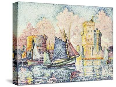 Tuna Boat Entering the Port of La Rochelle, Setting; Le Thonier Entrant Dans Le Port de La…-Paul Signac-Stretched Canvas Print