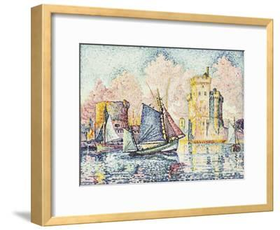 Tuna Boat Entering the Port of La Rochelle, Setting; Le Thonier Entrant Dans Le Port de La…-Paul Signac-Framed Giclee Print