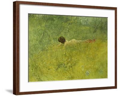 On the Grass; I Grongraset, 1902-Carl Larsson-Framed Giclee Print