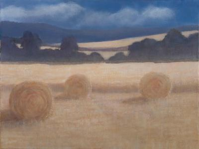 Two Hay Bales, 2012-Lincoln Seligman-Framed Giclee Print