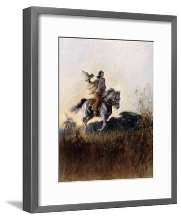 Almost a Fairytale: Princess Chand of Bijapur, 1932-Gilbert Holiday-Framed Giclee Print