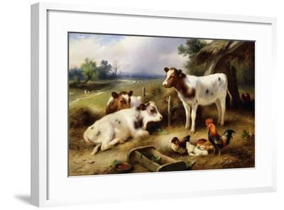 Farmyard Friends, 1923-Walter Hunt-Framed Giclee Print