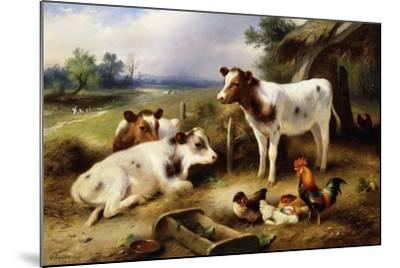 Farmyard Friends, 1923-Walter Hunt-Mounted Giclee Print