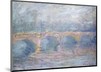 Waterloo Bridge, London, at Sunset, 1904-Claude Monet-Mounted Giclee Print