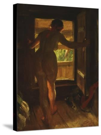 Mora Girl at an Open Door, 1903-Anders Leonard Zorn-Stretched Canvas Print