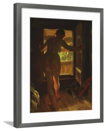 Mora Girl at an Open Door, 1903-Anders Leonard Zorn-Framed Giclee Print