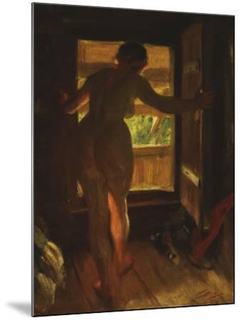 Mora Girl at an Open Door, 1903-Anders Leonard Zorn-Mounted Giclee Print