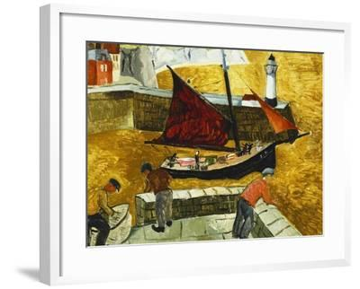Mousehole, Cornwall, 1928-Christopher Wood-Framed Giclee Print
