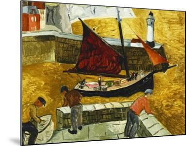 Mousehole, Cornwall, 1928-Christopher Wood-Mounted Giclee Print