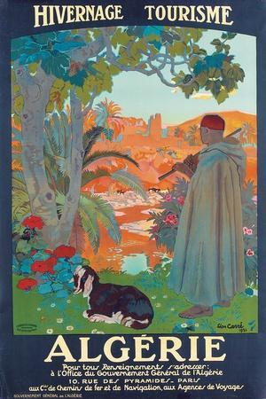 Algerie, 1921-Leon Georges Carre-Stretched Canvas Print