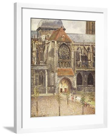 Portal of the Church of the Saint-Jaques in Dieppe; Portail de l'Eglise Saint-Jaques a Dieppe, 1901-Camille Pissarro-Framed Giclee Print