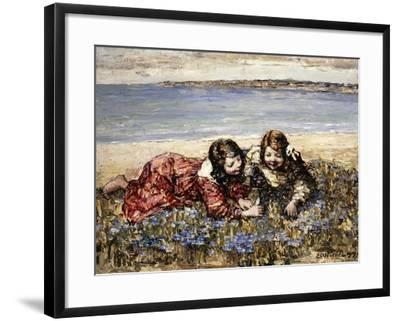 Gathering Flowers by the Seashore, 1919-Edward Atkinson Hornel-Framed Giclee Print
