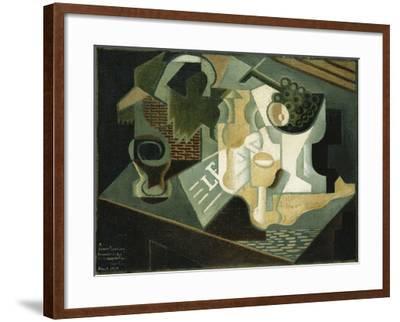 The Table in Front of the Building; La Table Devant Le Battiment, 1919-Juan Gris-Framed Giclee Print