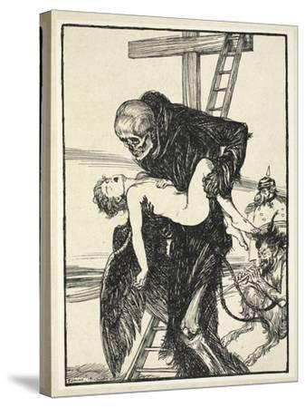 More Cruel Than Death, Illustration from the Kaiser's Garland by Edmund J. Sullivan, Pub. 1916-Edmund Joseph Sullivan-Stretched Canvas Print