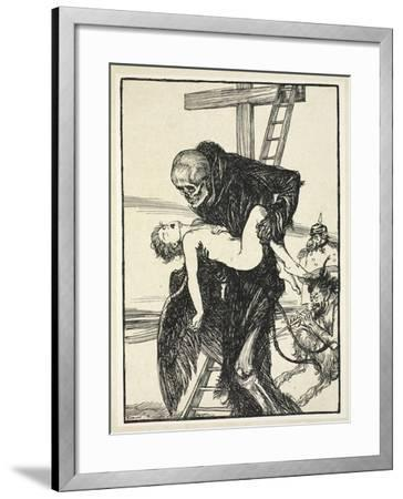 More Cruel Than Death, Illustration from the Kaiser's Garland by Edmund J. Sullivan, Pub. 1916-Edmund Joseph Sullivan-Framed Giclee Print