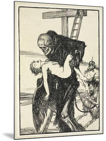 More Cruel Than Death, Illustration from the Kaiser's Garland by Edmund J. Sullivan, Pub. 1916-Edmund Joseph Sullivan-Mounted Giclee Print