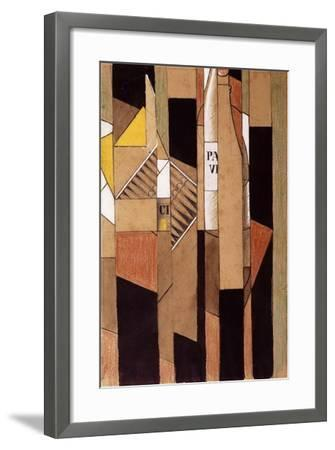 Still-Life with Bottle and Cigars; Nature Morte Avec Bouteille et Cigares, 1912-Juan Gris-Framed Giclee Print