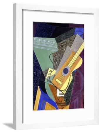 Guitar on a Table; Guitare Sur Une Table, 1916-Juan Gris-Framed Premium Giclee Print