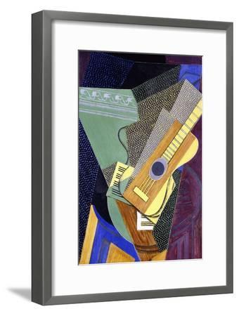 Guitar on a Table; Guitare Sur Une Table, 1916-Juan Gris-Framed Giclee Print