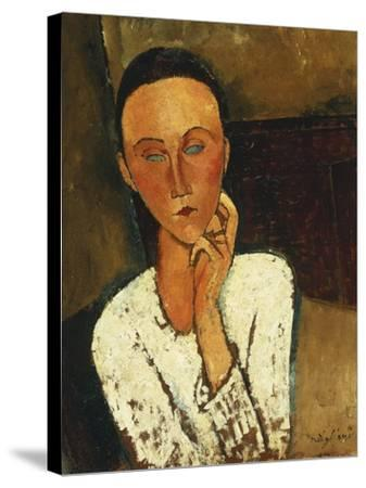 Lunia Czechowska (With Hand on the Right Cheek); Lunia Czechowska (La Main Gauche Sur La Joue),…-Amedeo Modigliani-Stretched Canvas Print