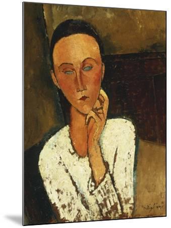 Lunia Czechowska (With Hand on the Right Cheek); Lunia Czechowska (La Main Gauche Sur La Joue),…-Amedeo Modigliani-Mounted Giclee Print