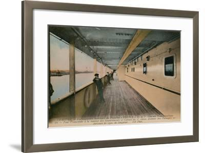 Le Havre - Interior of SS France, Ocean Liner Owned by Compagnie Generale Transatlantique.…-French Photographer-Framed Giclee Print