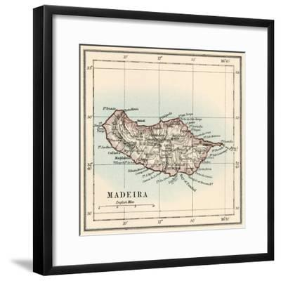 Map of the Island of Madeira, 1870s--Framed Giclee Print