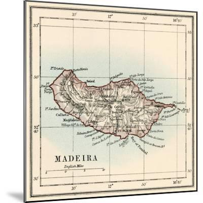 Map of the Island of Madeira, 1870s--Mounted Giclee Print