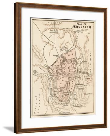 Map of the City of Jerusalem, 1870s--Framed Giclee Print