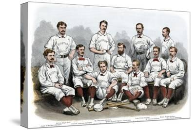 Boston Red Stocking Baseball Club of 1874--Stretched Canvas Print