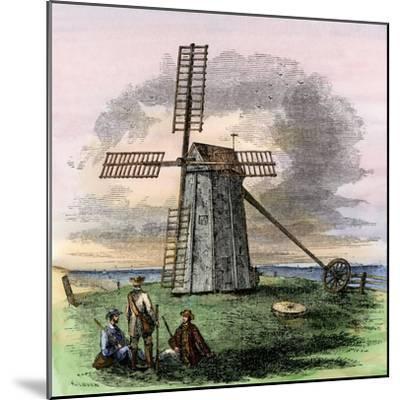 Windmill in Truro on Cape Cod, Massachusetts, 1850s--Mounted Giclee Print