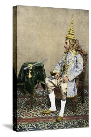 Rama V (Chulalongkorn), King of Siam, in His Royal Attire, Circa 1900--Stretched Canvas Print