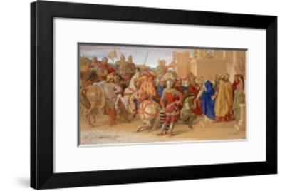 The Knights of the Round Table About to Depart in Quest of the Holy Grail  Giclee Print by | Art com