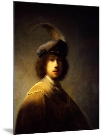 Self-Portrait, Aged 23-Rembrandt van Rijn-Mounted Giclee Print