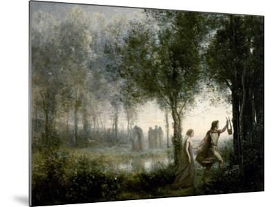 Orpheus Leading Eurydice From the Underworld-Jean-Baptiste-Camille Corot-Mounted Giclee Print