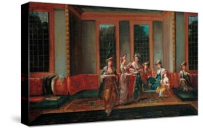 Women Drinking Coffee-Jean-Baptiste Vanmour-Stretched Canvas Print