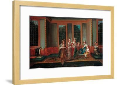 Women Drinking Coffee-Jean-Baptiste Vanmour-Framed Giclee Print