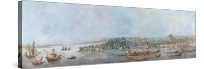 Panorama of Sarayburnu-Louis-Francois Cassas-Stretched Canvas Print